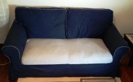 3-Θέσιος και 2-Θέσιος καναπές χρώματος σκούρο μπλε
