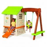 Παιδικό Σπιτάκι Κήπου με Τσουλήθρα και Κούνια Smoby (810601)